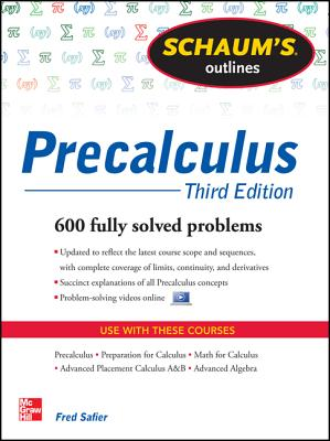 Schaum's Outline of Precalculus By Safier, Fred